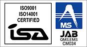 マネージメントシステム国際規格ISO認証を取得いたしました。